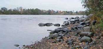 Каменистые берега - верный ориентир для определения переката.
